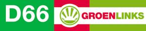 logo D66 - GroenLinks